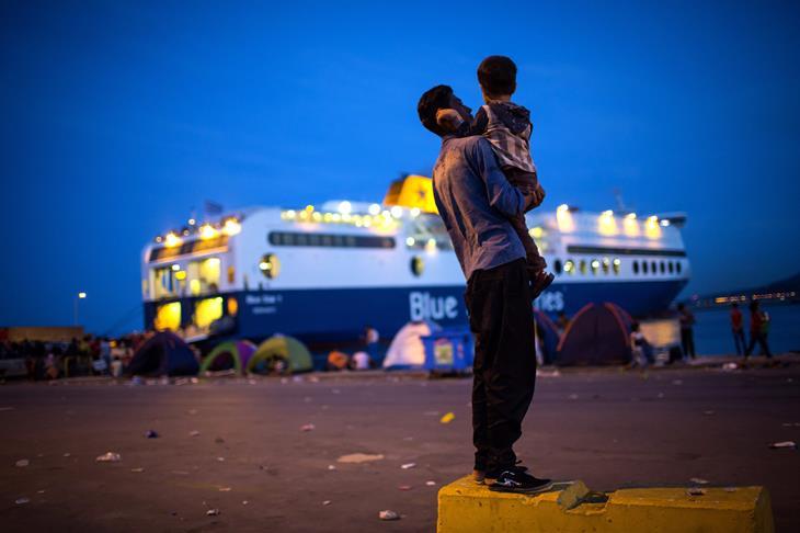 Migranti Lesbos