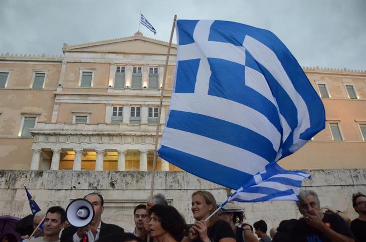 Manifestazioni Atene Referendum