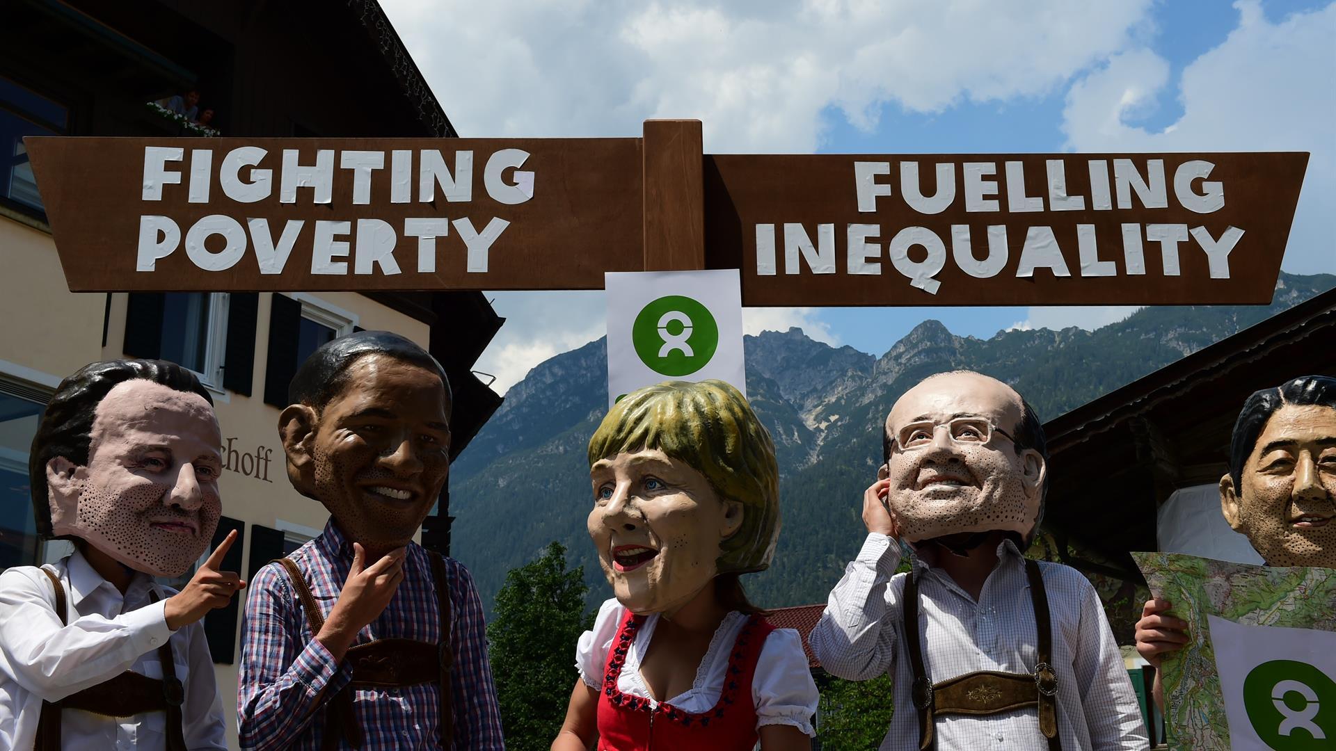 Oxfam G7 Campaign Getty