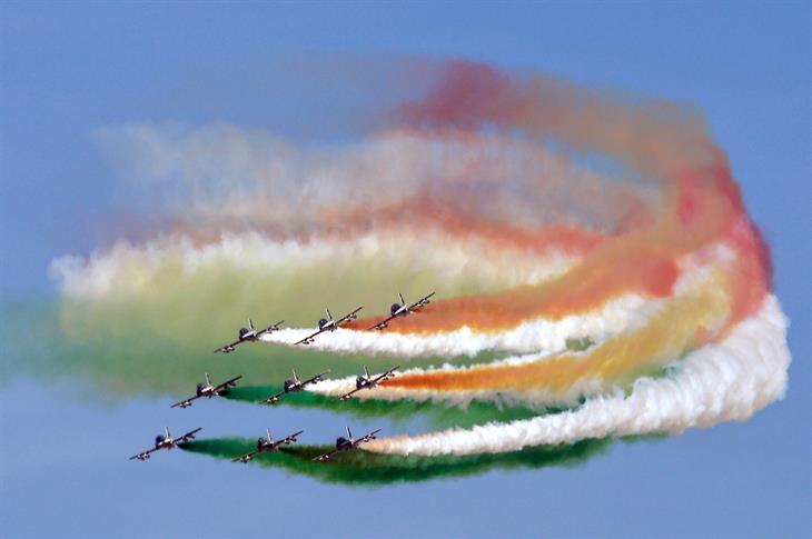 Frecce Tricolori ANDREAS SOLARO:AFP:Getty Images)